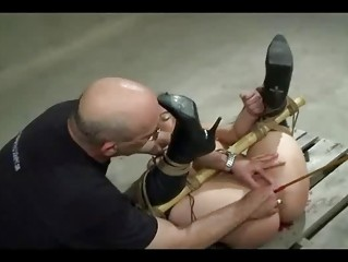 Bound Caned And Toyed