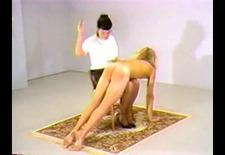 7 mistresses take turns otk spanking a sub