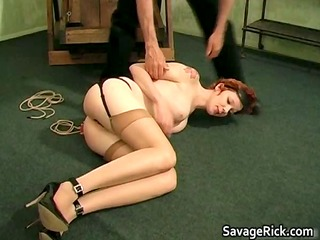 cute redhead bitch madison gets bound part4