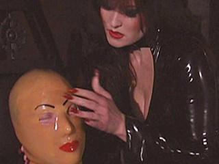 Kinky Dominatrix Spanks Her Slave