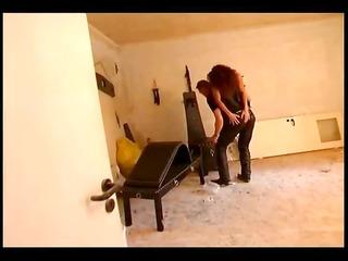 dominant couple punishing a slave girl