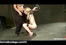 strapped suspended blonde flogged and vibed