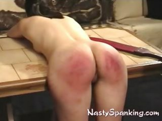 Ass raw and red spanked