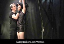 Brunette whore hard spanked and exploited