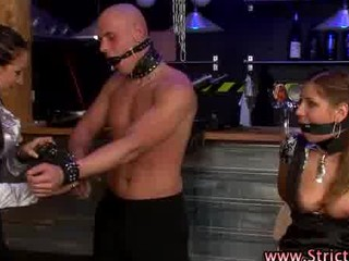 Bdsm femdom bitch slut ties and whips victims