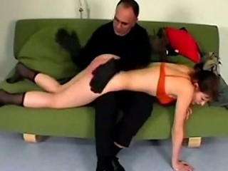 Young girl whipped getting her legs tied spanked by master o