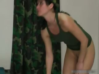 Army Caning slapping clip  part1