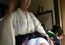 Japan girl punish by her mum