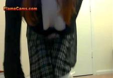 teen schoolgirl spanks her tight ass