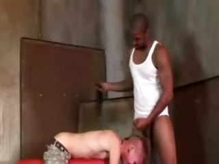 He uses his dick as a whip to make his slave cringe