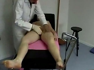 Girl getting her soles and ass spanked pussy rubbed by the d