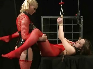 Mistress punishing hot slavegirl