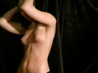 Teen amateur slaves breast whipping and frontal spanking of