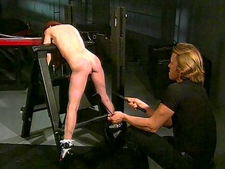 fetish redhead babe likes to be dominated