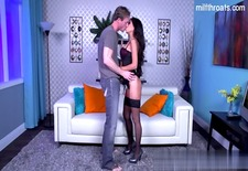 Hot girlfriend pussy spanking