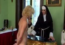Femdom fetish schoolgirls and their nun mistress