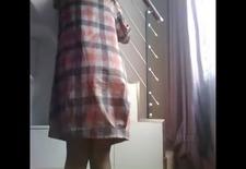 Chinese Girl Belt Spanking