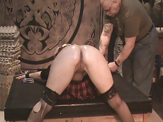 Naughty schoolgirl Antonia gets caned!