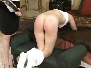 Sexy slave girls get spanked and caned to multiple orgasms