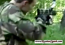 spanking and paintball Punishment For Russian Girls