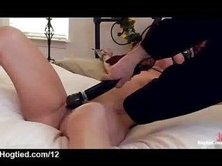 bound blonde vibed and flogged