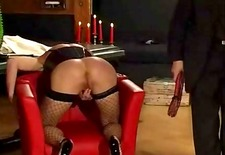 tied up slut gets whipped and dominated by master