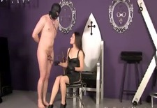 dimina spanks her hooded gimps bare ass