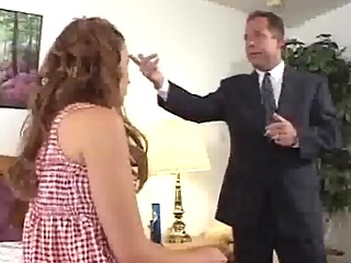 Blonde Chick Punished By Boss
