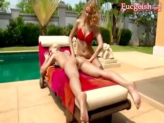 a hot blond gets her ass spanked and licked video