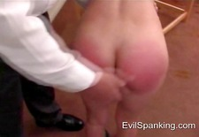 red spanked sexy ass