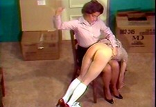schoolgirls spanked otk