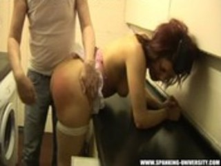 Spanking the housewifes ass