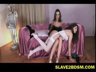 Mistress Simony punishes her maid
