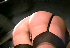 english caning and spanking of bruised blonde bdsm bondage slave femdom domination