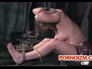 Fetish bondage slave caned and whipped